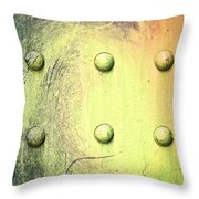 Steel Beam Abstract Throw Pillow