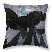 Steel Garden Throw Pillow