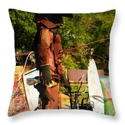 Steel Gunfighter Throw Pillow