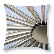 Steel Sun Throw Pillow