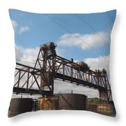Steel Water Hdr Number 1 Throw Pillow