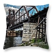 Steel Water Hdr Number 7 Throw Pillow