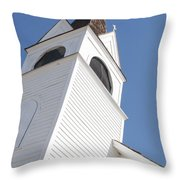 Steeple On St. Joseph's Catholic Mission Church Throw Pillow