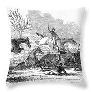 Steeplechase, 1845 Throw Pillow