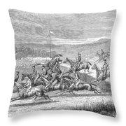 Steeplechase, 1863 Throw Pillow