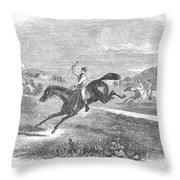 Steeplechase, C1880 Throw Pillow
