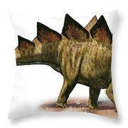 Stegosaurus Armatus, A Prehistoric Era Throw Pillow