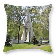 Stela In Park Throw Pillow