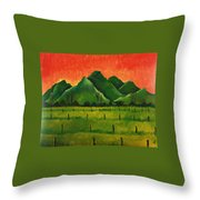 Stellenbosch Mountain Throw Pillow