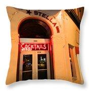 Stella Cocktail Bar At Night Throw Pillow