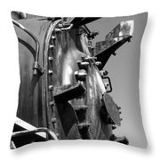 Steme Engine Front Black And White Throw Pillow