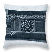 Step Reckoner, Leibniz Mechanical Throw Pillow