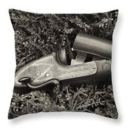 Stephen Grant And Sons Side Lever Twelve Bore - D003359-bw Throw Pillow