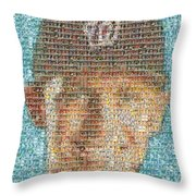 Stephen Strasburg Card Mosaic Throw Pillow