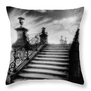 Steps At Chateau Vieux Throw Pillow