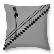Steps In The Shadows Throw Pillow