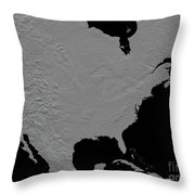 Stereoscopic View Of North America Throw Pillow