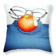 Steve Jobs-tribute Of Love Throw Pillow