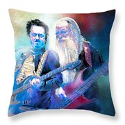Steve Lukather And Leland Sklar From Toto 02 Throw Pillow