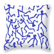 Stickmen Characters One Eleven Two K Eleven Throw Pillow