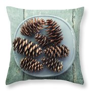 Stil Life With  Seven Pine Cones Throw Pillow