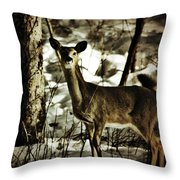 Still As The Tree Throw Pillow