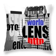 Still Camera From Words Throw Pillow