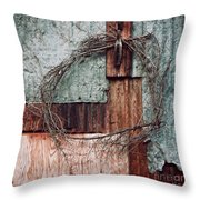 Still Decorated With A Wreath Throw Pillow by Priska Wettstein