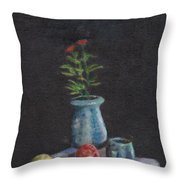 Still Life Flowers And Fruit Throw Pillow