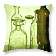 Still Life Of Bottles  Throw Pillow