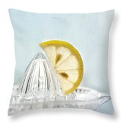 Still Life With A Half Slice Of Lemon Throw Pillow