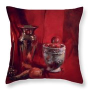 Still Life With Apples Throw Pillow