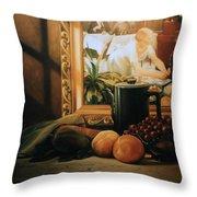 Still Life With Hopper Throw Pillow