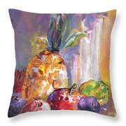 Still Life With Pineapple Throw Pillow