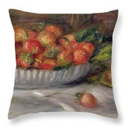 Still Life With Strawberries Throw Pillow