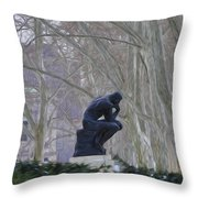 Still Thinking Throw Pillow by Bill Cannon