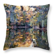 Still Waters - Autumn Reflections Throw Pillow