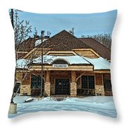 Stillwater Mn Depot Throw Pillow