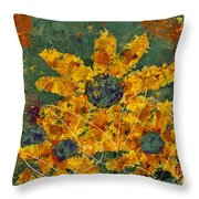 Stimuli Floral - S04ct01 Throw Pillow by Variance Collections