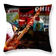 Sting In Concert Throw Pillow