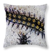 Stinging Caterpillars Throw Pillow