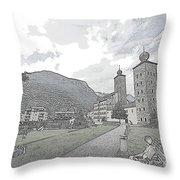 Stockalper Castle Throw Pillow
