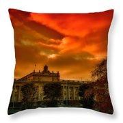 Stockholm In Autumn Throw Pillow