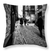 Stockholm Old Town Throw Pillow