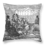Stockholm: Sleighing, 1850 Throw Pillow
