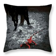 Stomping Mad Throw Pillow