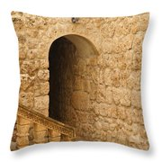 Stone Arch And Stairway Throw Pillow