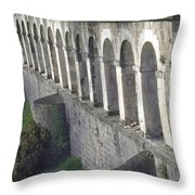 Stone Arches And Shadows Throw Pillow