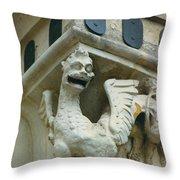 Stone Beastie Throw Pillow