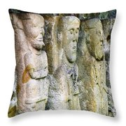 Stone Carving Figures Throw Pillow